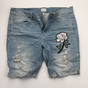 Embroidered Bermuda Shorts